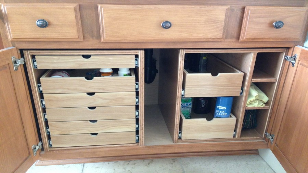 Image of: Tray Vanity Drawer Organizer