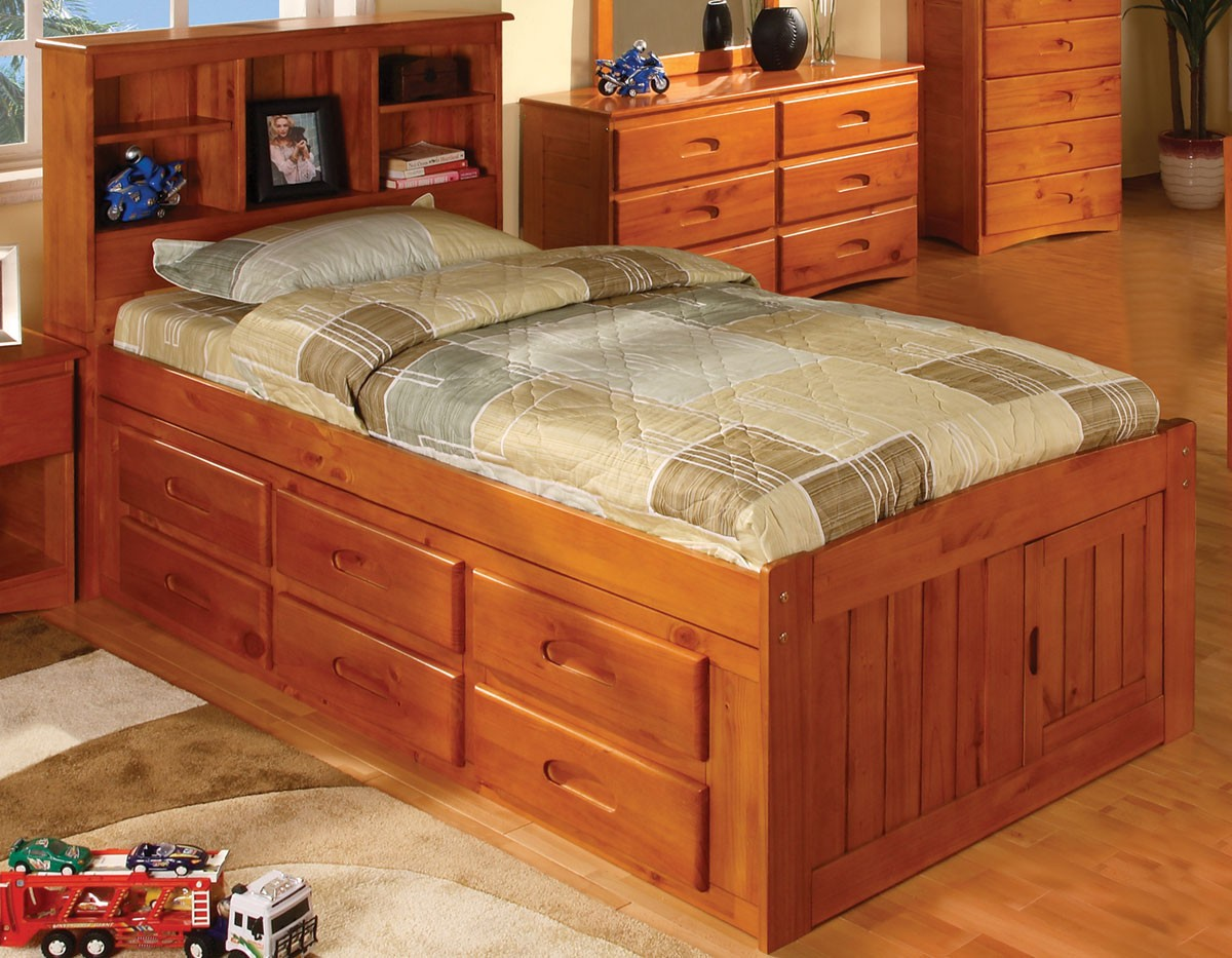 Twin 6-Drawer Captain's Platform Storage Bed Ideas