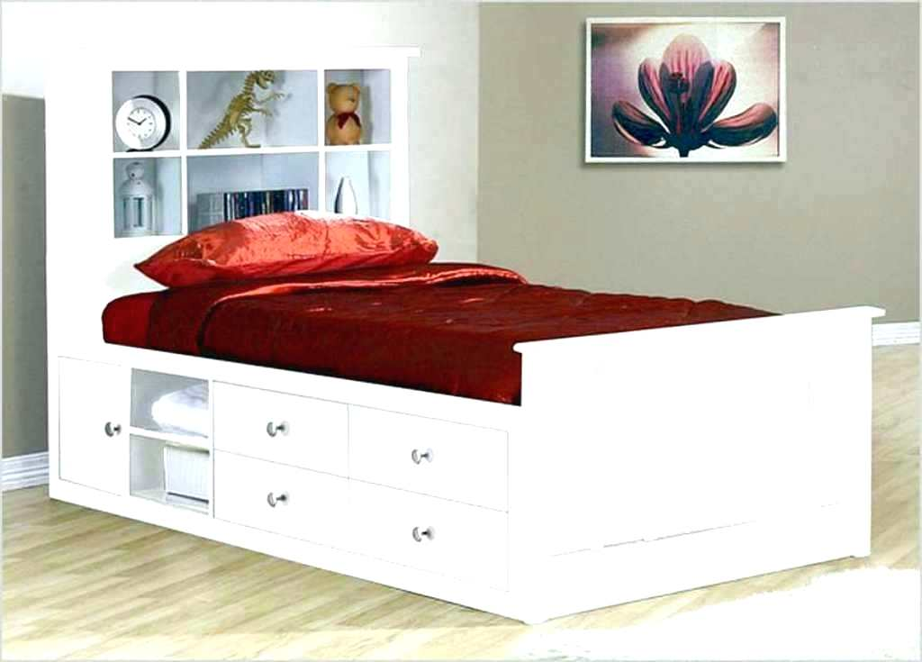 Image of: Twin 6-Drawer Captain's Platform Storage Bed