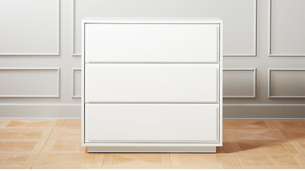 Picture of: White 3 Drawer Chest