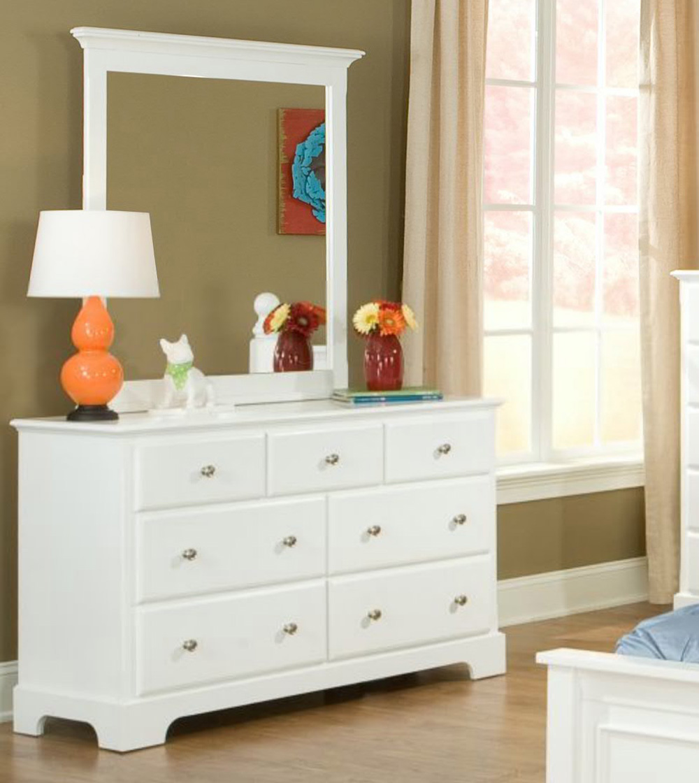 Picture of: White 7 Drawer Dresser Size