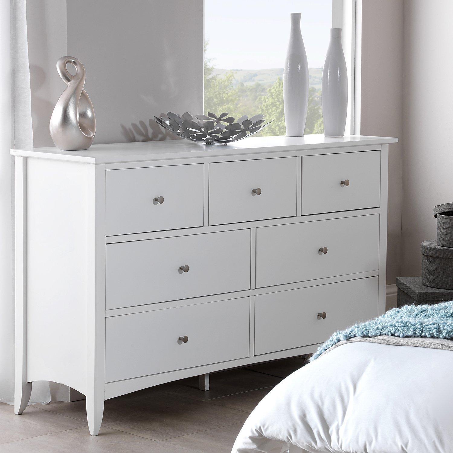 Picture of: White 7 Drawer