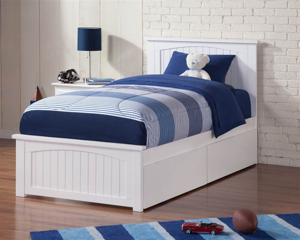 Picture of: White Drawer Bed