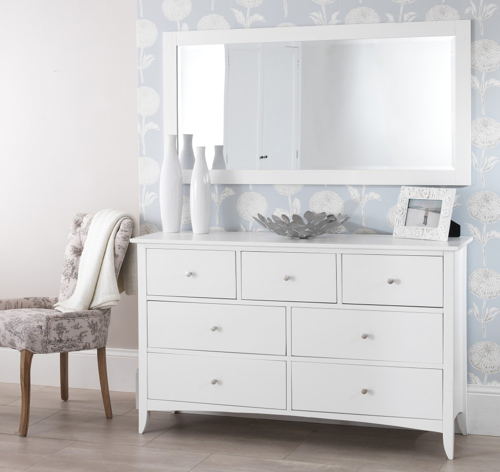 Image of: White Drawer Chest Design