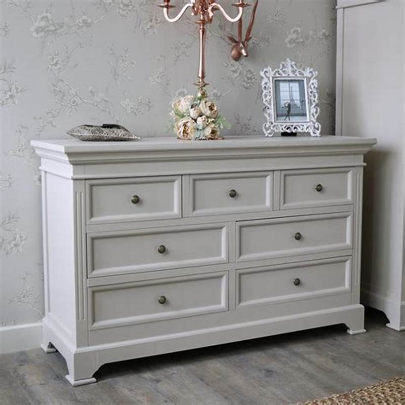 Image of: White Drawer Chest