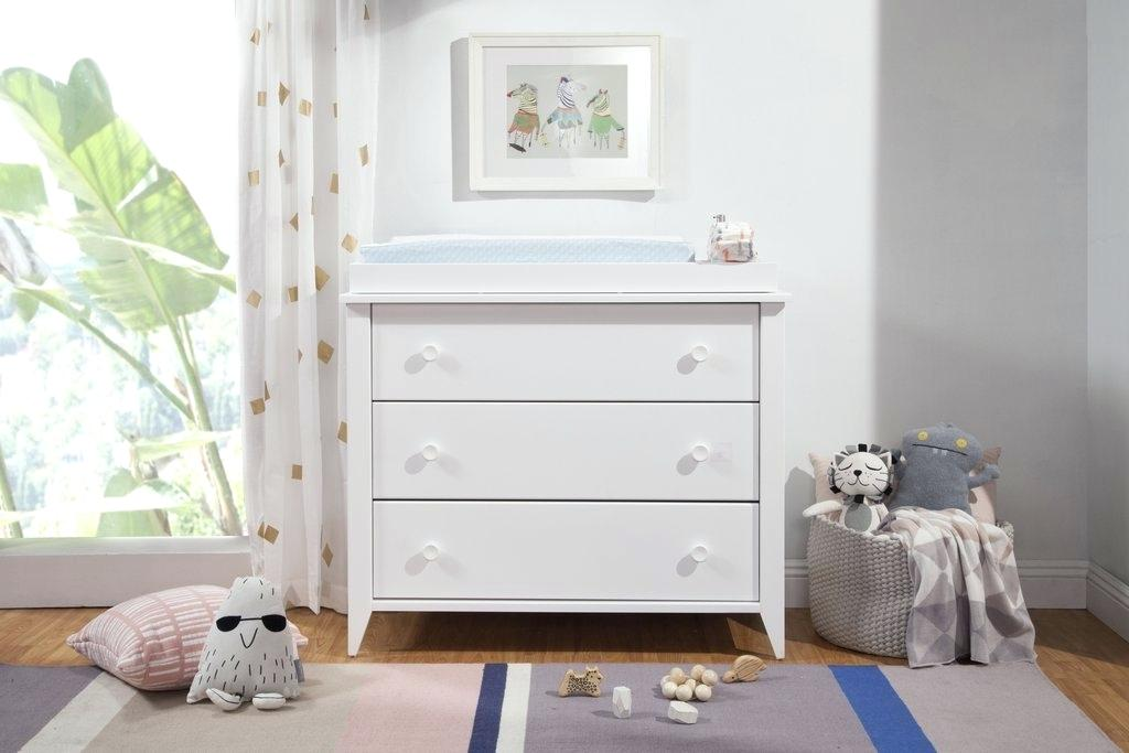 Picture of: White Washed 3 Drawer Chest