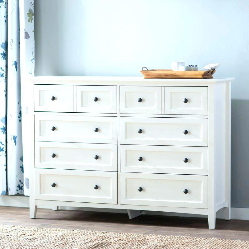 White Wooden Small Drawer Organizer