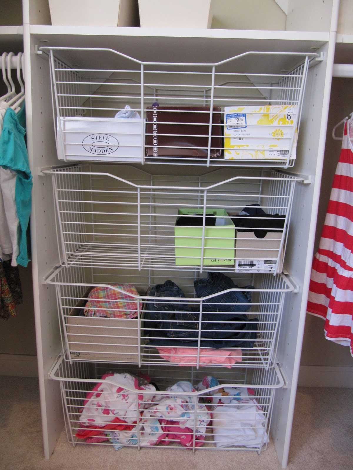 Image of: Wire Closet Drawer Organizer