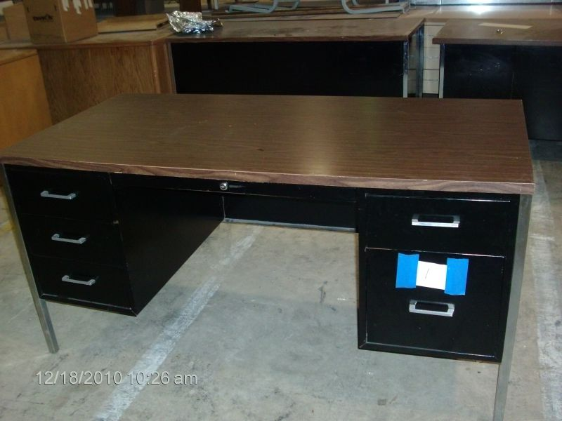 Image of: Wood And Metal Desk Drawers