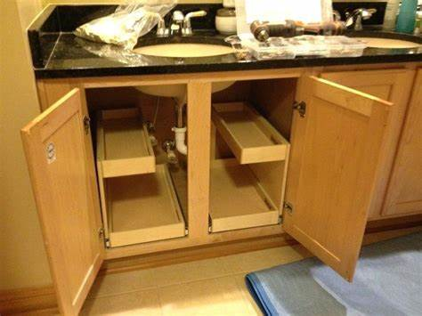 Wood Vanity Drawer Organizer