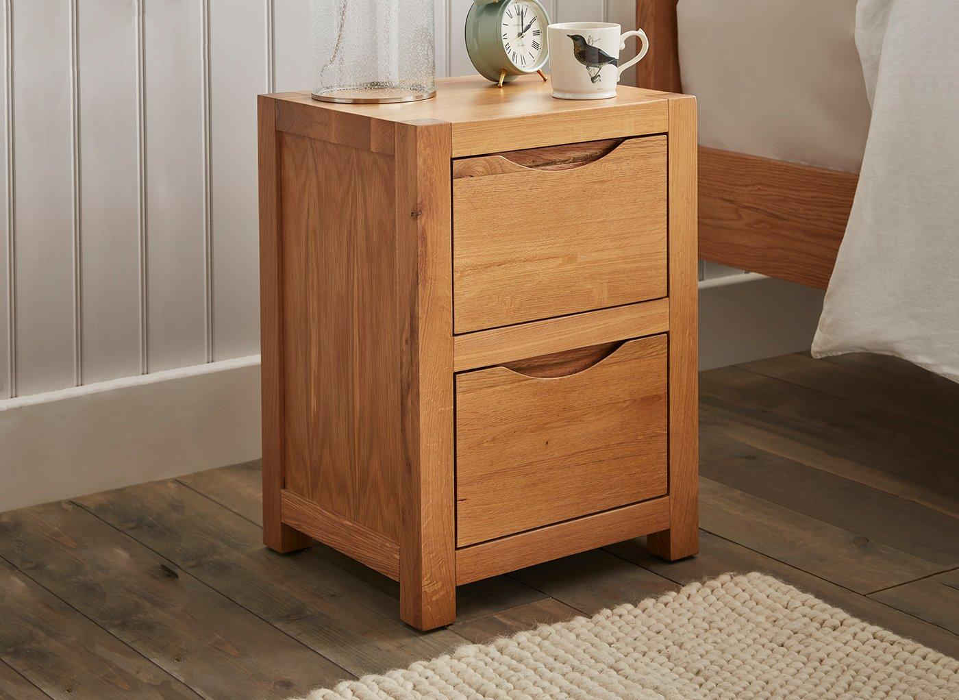 Wooden 2 Drawer Chest