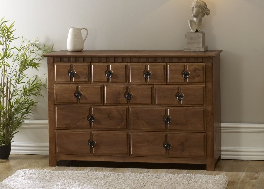 Wooden Chest with Drawer