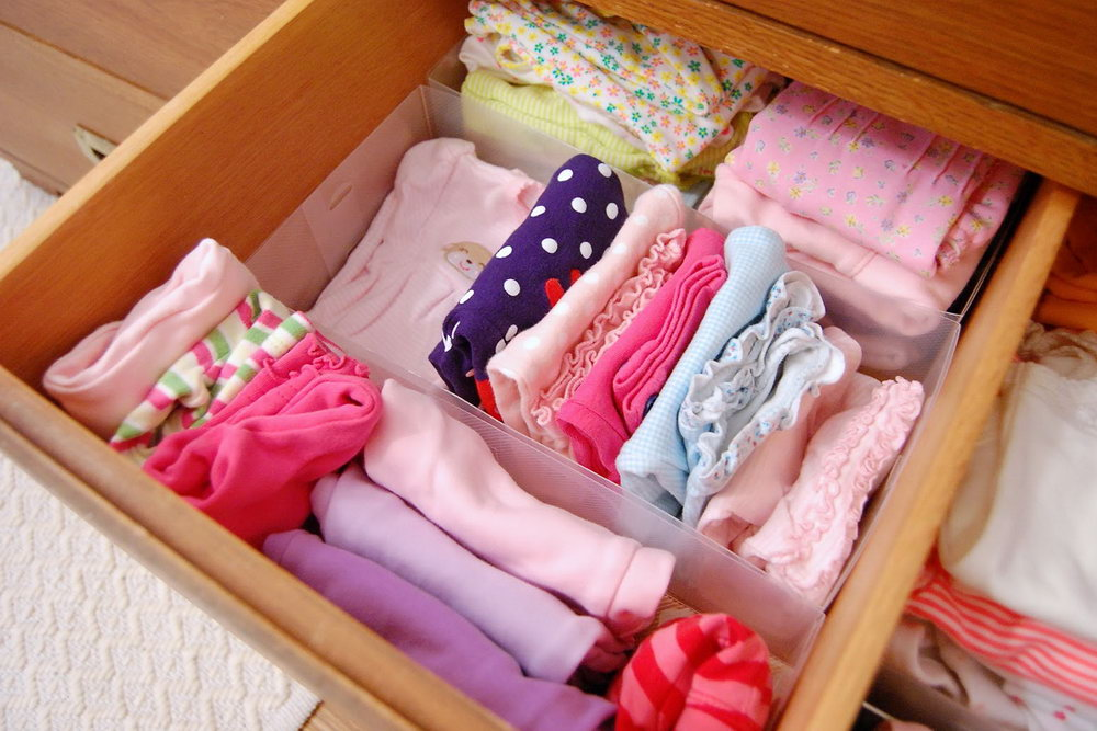 Wooden Clothing Drawer Organizer