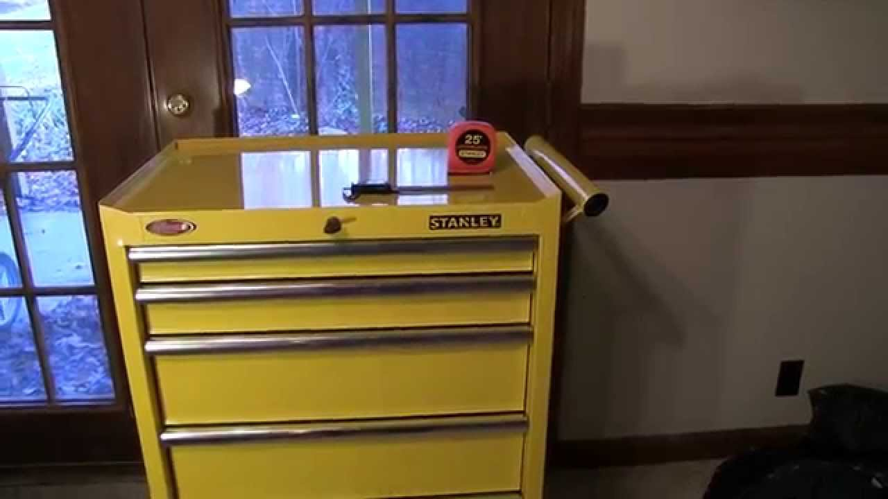 Image of: Yellow 5 Drawer Tool Chest